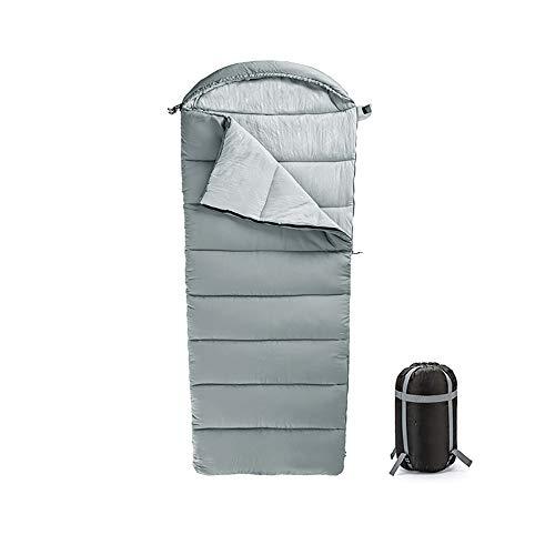LSS Sac de Couchage, Produit d'extérieur, avec Sac de Compression Portable, Facile à Nettoyer, Lavable en Machine, Respirant Doux, Gris, pour la randonnée en Camping