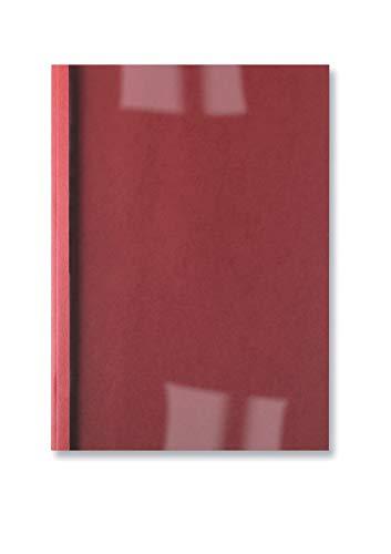 GBC LeatherGrain Thermo-Bindemappen, 100 Stück, A4, rot, 4mm
