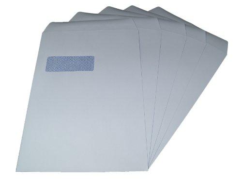 Packitsafe 750 sobres para ventanas de tamaño A4, 324 mm x 229 mm, autoadhesivos, color blanco