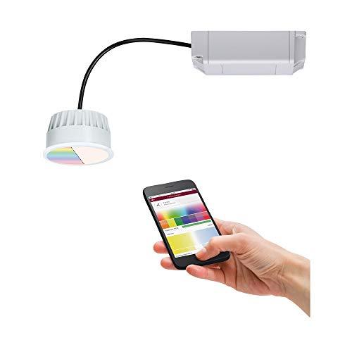Preisvergleich Produktbild Paulmann 92966 LED Einbauleuchte SmartHome Zigbee Modul Coin rund incl. 1x2, 5 Watt RGBW dimmbar Einbaustrahler Opal Spot Einbaulampe 2700 K