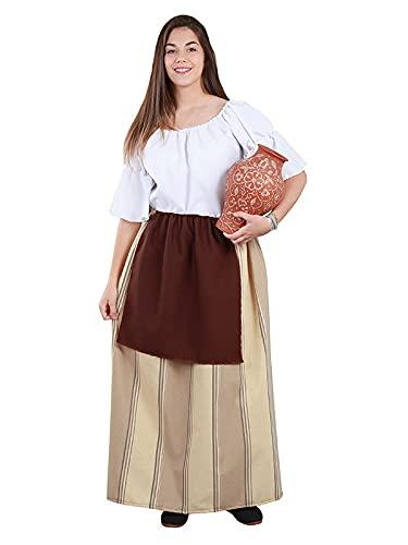 DISBACANAL Falda Campesina Medieval Mujer - L