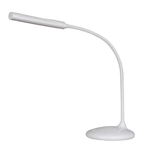 Unilux 400124483 NELLY LED acculamp dimbaar buigbare arm batterij nachtkastje leeslamp Micro USB-oplaadkabel - oplaadbare leeslamp in het wit