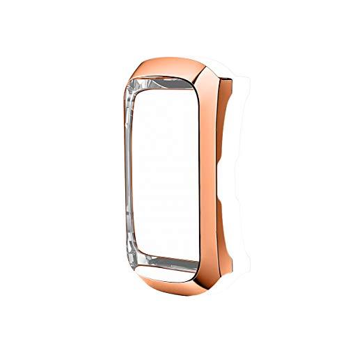 Schutzhülle Schutzfolie Kompatibel mit Samsung Galaxy Fit SM-R370 Schutzhülle Displayschutz, Weiche TPU Case Gehäuse Schlankes Abdeckung für Samsung Galaxy Fit SM-R370 Fitness Tracker (Roségold)