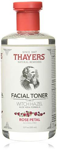 Thayers Facial Toner, Witch Hazel with Aloe Vera, Rose Petal, 12 Fl Oz