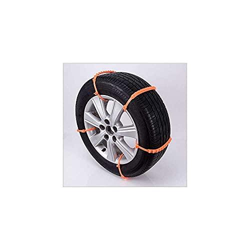 qinjun 10 unids coche antideslizante cadena de cables antideslizante invierno portátil y fácil de quitar suministros generales de hebilla, 92 cm