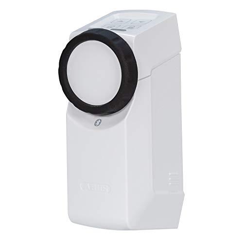ABUS HomeTec Pro Bluetooth CFA3100 - Elektronisches Türschloss - Haustür per App auf dem Smartphone öffenen und verriegeln - mit Zugangskontrolle - Weiß