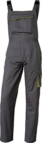 Delta plus - Pantalon panostyle poliester algodón gris/verde talla xs