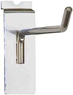 Chrome 1//4 Wire 12 Long Pack of 100 KC Store Fixtures A01848 Slatwall Hook