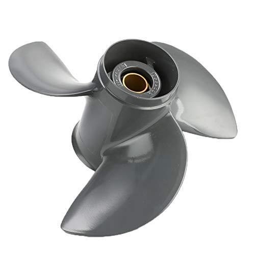 JIJIONG Motores de hélice de Barco de 3 Palas Motores de hélice Marina Aleación de Aluminio 11 1 / 4X13 para Honda 35-60Hp 58130-Zv5-012Ah