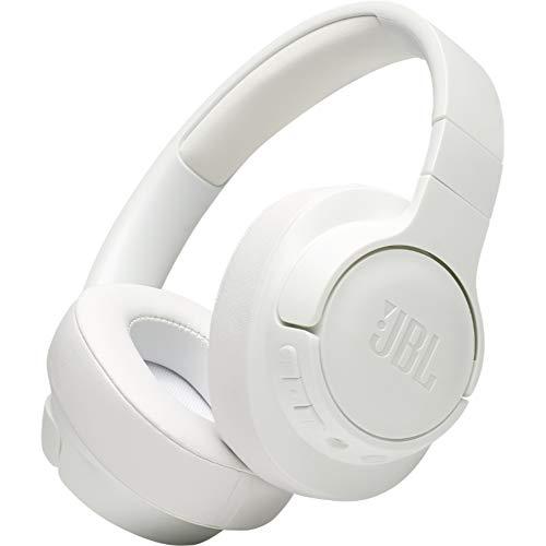 JBL Tune 700BT Over-Ear Kopfhörer in Weiß – Kabellose Bluetooth Ohrhörer mit 27 Stunden Akkulaufzeit – Musik Streaming und telefonieren unterwegs