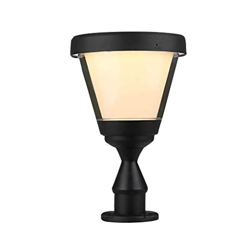 HEMFV Outdoor Post Light Fixtures Large Outdoor Solar Powered LED Light Lamp