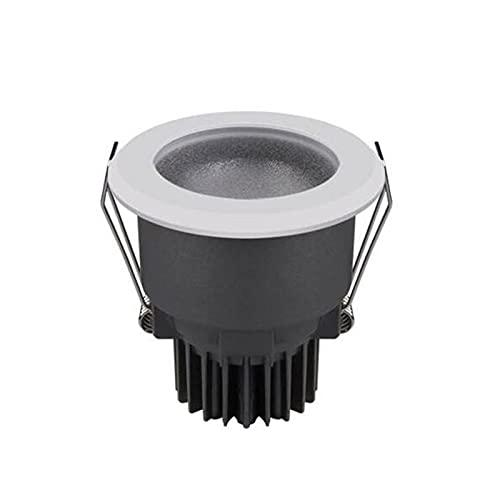 Mrdsre 12W LED Downlights Focos de techo 3000K / 4000K / 5000K AC 220V High CRI 95RA 24 ° ángulo de haz de 24 ° IP67 A prueba de agua a prueba de niebla LED empotrada Luces de techo para baño Cocina d