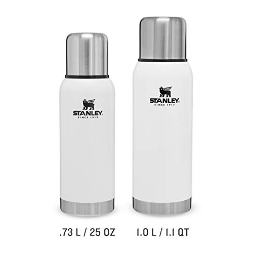 Stanley Adventure Vacuum Bottle BPA Free Stainless Steel Thermos-Keeps Cold or Hot for 24 Hours, Polar White, 1L