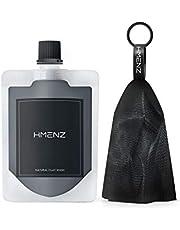 洗顔 メンズ 【 毛穴 汚れ 皮脂 汚れ を 落とす 黒 の 濃密 泡 洗顔フォーム 】 HMENZ メンズ 「 3種類の 泥 +2種類の 炭 」「 男 のための 洗顔料 」「 黒 の 泡 立て ネット 付き 」 130g
