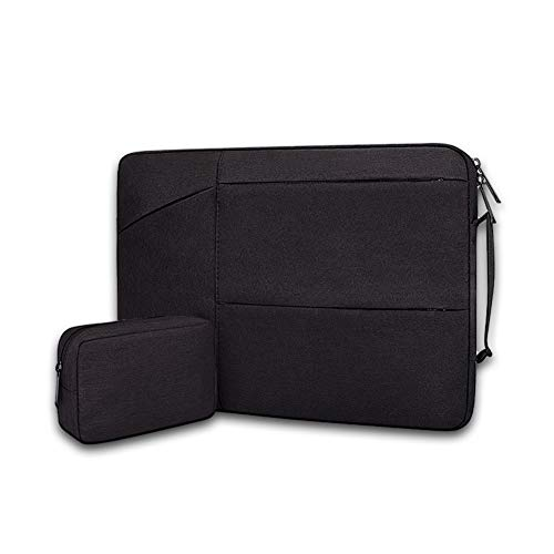 15.6 Inch Laptop Protective Sleeve Sleeve Length, Comes with A Small Bag, Waterproof Ultra-Thin Computer Bag Cover, Suitable for Daily Business Commuting and Leisure Outings, Black