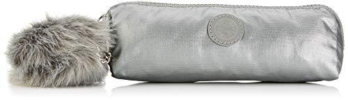 Kipling Brush Pouch Neceser, 20 cm, 0.5 Liters, Gris (Metallic Stony)