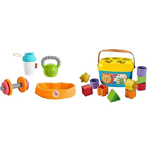 Fisher-Price Conjunto de Regalo Baby Biceps (Mattel GJD49) y Bloques Infantiles (Mattel FFC84)