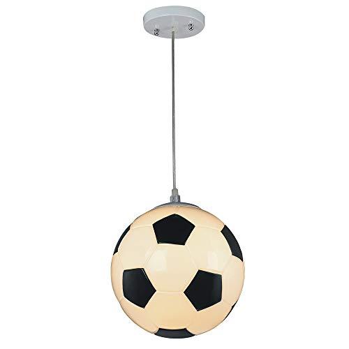 Wonderlamp W-A000118 Lámpara de techo infantil futbol, Color Blanco Clase energética A