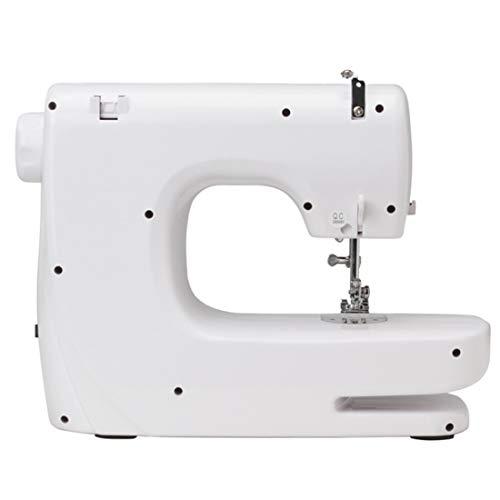 WRHM Máquina de Coser hogar 14 Puntos de Bloqueo Ojal Gruesa pequeña máquina de Coser eléctrica,White