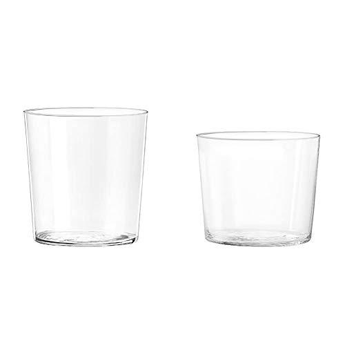 H&H Starck Set 6 Bicchieri Acqua, Vetro Ultrasottile, 350 ml & Starck Set 6 Bicchieri Vino, Vetro Ultrasottile, 270 ml