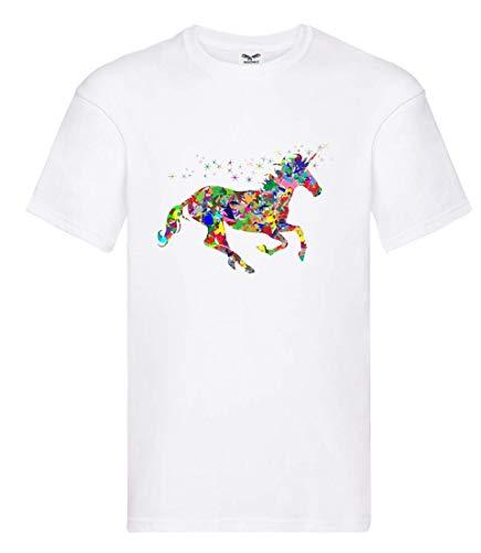 Camiseta – Multicolor Prismático cromático Arco Iris – Camiseta Unisex para niños – Niños y niñas Blanco 104 cm
