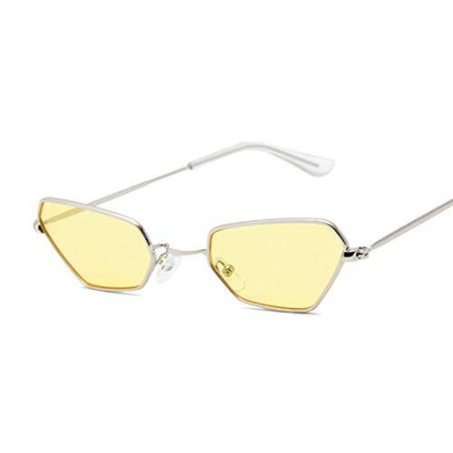 Sunglasses Gafas de Sol de Moda Gafas De Sol Retro Pequeñas con Forma De Ojo De Gato para Mujer, Gafas De Sol De Color A