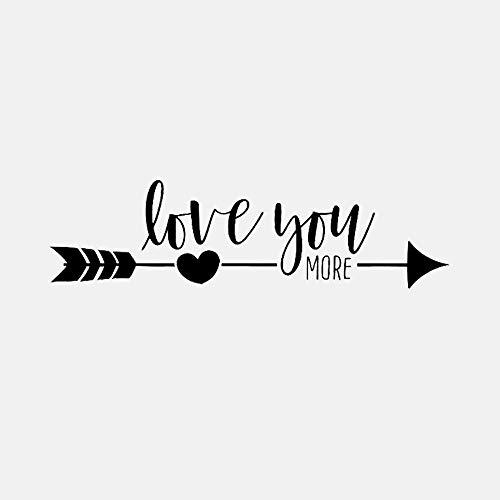 Noir Art Lettre Décorations-Love You More Sticker Décoratif En Pvc