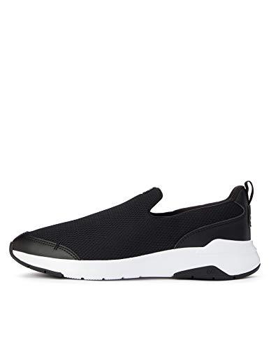 CARE OF by PUMA Slip on Runner Low-Top Sneakers, Nero (Black-Glacier Gray), 39 EU
