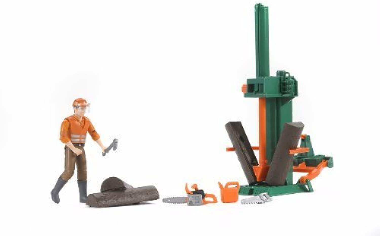 Bruder Bworld Logging Set with uomo by Bruder
