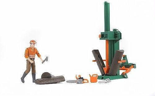 Bruder Toys Bruder Bworld Logging Set with Man by
