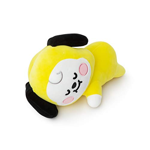 BT21 Official Merchandise by Line Friends - CHIMMY Baby Faced Character Mini Soft Pillow Cushion, Yellow