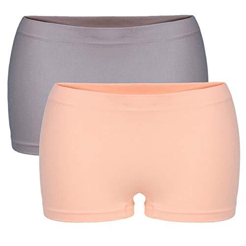 Dames slips Seamless Panty 2-pack boxershorts naadloos onderbroek microvezel 23