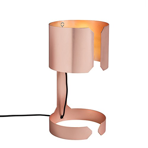 QAZQA - Design 2er Set Design Tischleuchte | Tischlampe | Lampe | Leuchten kupfer matt - Waltz | Wohnzimmer | Schlafzimmer - Metall Rund - LED geeignet E27