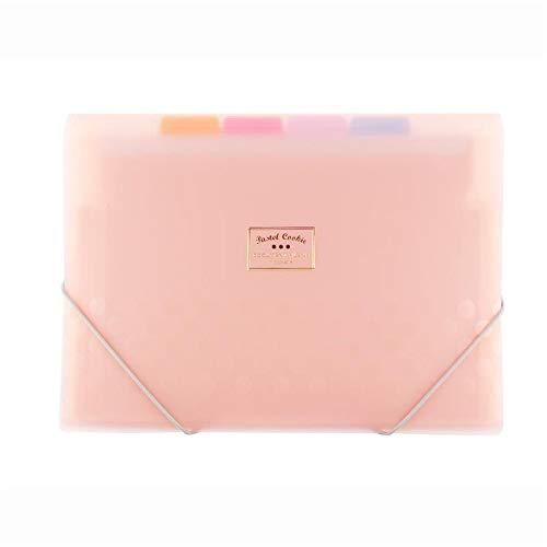 Chyuanhua Ordner Thin Kunststoff Büroklammer Büro Student Taschen Akkordeon-Tasche Farbe A4-Format Organisieren Entwickelt für Heimbüros und Schulen (Color : 4 Pieces, Size : 33x25.3x1.2cm)