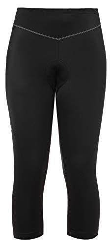 VAUDE Damen Hose Women's Active 3/4 Pants, 3/4-Radhose, funktionelles Sitzpolster, black uni, 38, 044090510380