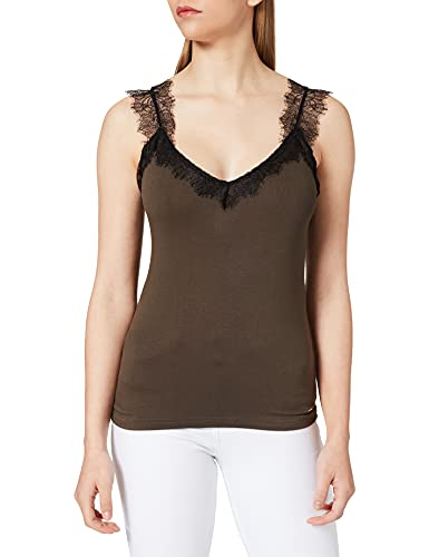 Morgan T-Shirt 211-DELY Camiseta, Corte/Negro, S para Mujer