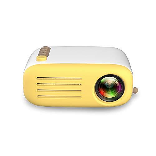 PUCHIKA Mini Beamer 720P Projekte für Kinder Tragbar Mini Heimkino Zuhause LED 30.000 Stunden Lebensdauer Gelb Party