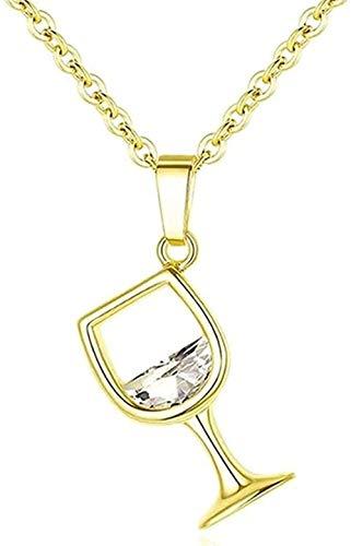 AOAOTOTQ Co.,ltd Collar Regalo Copa De Vino Colgante Collar De Cadena para Mujer Talla 45Cm