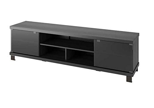 "Sonax Holland Extra Wide TV/Component Bench, 70.75"", Ravenswood Black"