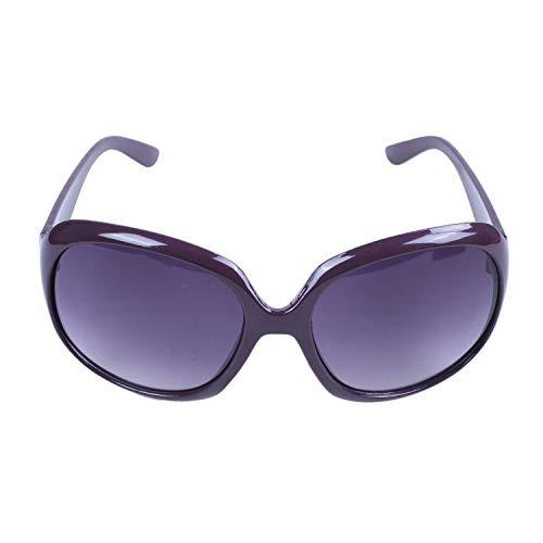 cherrypop Gafas de sol de compras grandes de la señora de las mujeres de la manera atractiva rojo púrpura