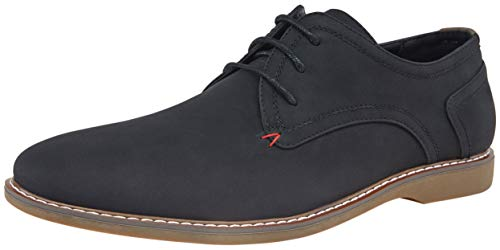 JOUSEN Men's Oxford Suede Business Casual Dress Shoes Plain Toe Oxfords Classic Formal Derby Shoes (AMY615 Black 10.5)