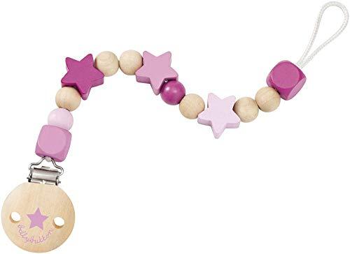 Selecta 64013 Sternchenglück, Schnullerkette - bellybutton, rosa, 21 cm