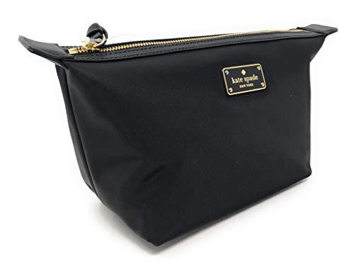 Kate Sapde New York Jodi Travel Cosmetics Make-Up Case Clutch Bag Black