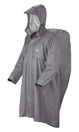 FERRINO Trekker Cape anti-pluie pour homme, gris, L-XL