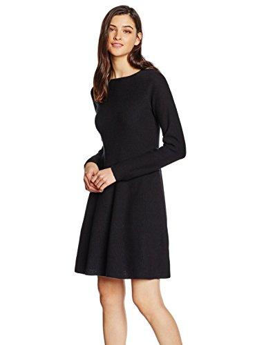 BOSS Orange Damen Kleid Iesibell, Schwarz (Black 001), 34 (S)
