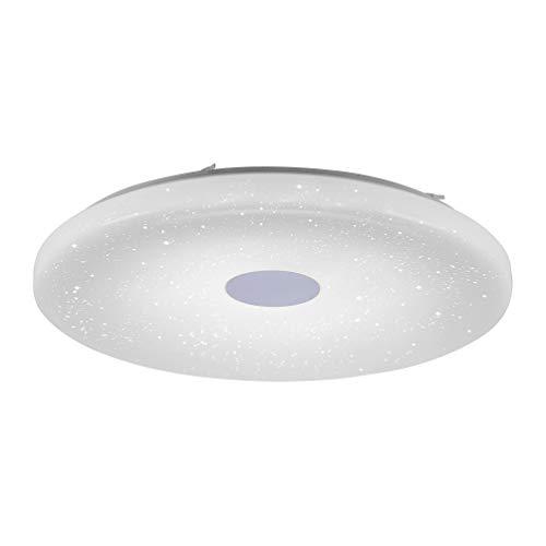 LED Deckenlampe in Sternenhimmel-Optik, rund, Ø80cm, | dimmbare Deckenleuchte mit Farbtemperatursteuerung, warmweiß - kaltweiß | Sternenlicht Deckenbeleuchtung mit Fernbedienung