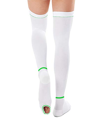 T.E.D. Anti Embolism Stockings for Women Men Thigh High, 15-20 mmHg Compression TED Hose with Inspect Toe Hole