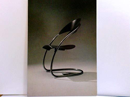 Tubular steel chair. Hans & Wassily Luckhardt. AK s/w. Photo Roland Engerisser. Kunst, Moderne, Design, Stuhl