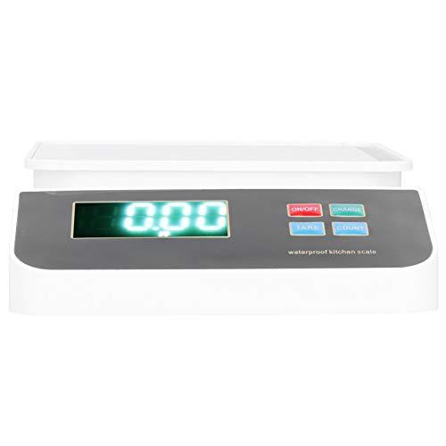 Lantro JS Elektronische Waage, Gewichtsmessgerät aus Edelstahl Tragbare rostbeständige Digitalwaage, Pulverschmuck für Gemüsekaffee
