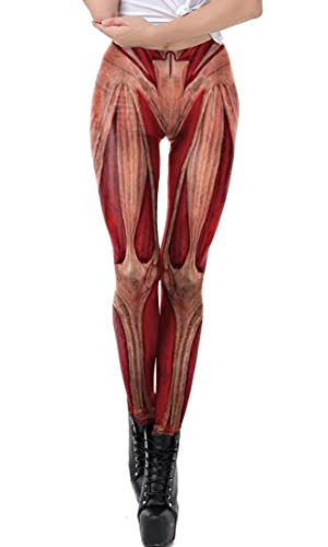 HIP styles 9Yourtime 3D Leggings Harajuku Fitness Workout Elastic Leggings, Muscle 8, 4XL